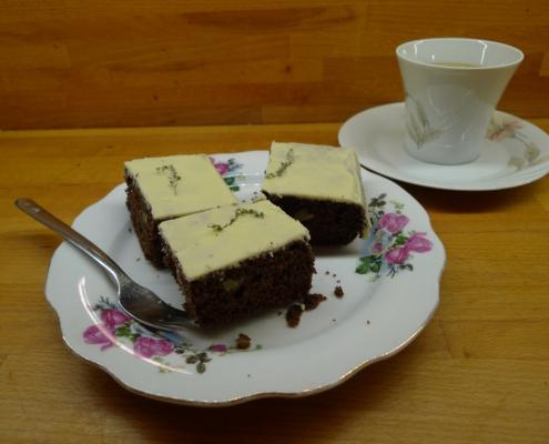 Kakaový chlebíček s pelyňkem pontickým