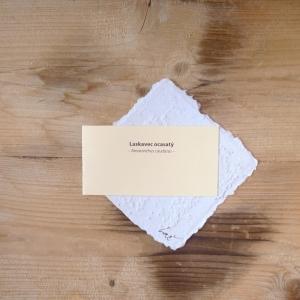 Ruční papír malý se semínky laskavce ocasatého