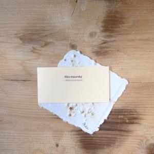 Ruční papír malý se semínky slézu maurského