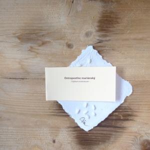 Ruční papír malý se semínky ostropestřce mariánského