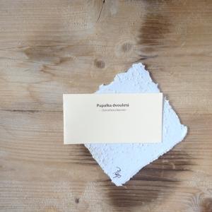 Ruční papír malý se semínky pupalky dvouleté