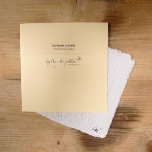 Ruční papír velký se semínky laskavce ocasatého