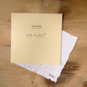 Ruční papír velký se semínky slézu maurského