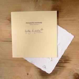 Ruční papír velký se semínky ostropestřce mariánského