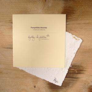 Ruční papír velký se semínky pampelišky lékařské
