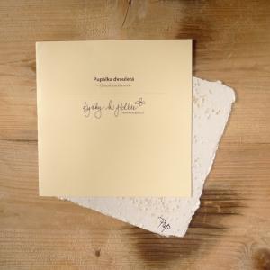 Ruční papír velký se semínky pupalky dvouleté