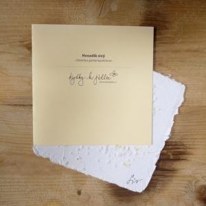 Ruční papír velký se semínky hvozdíku sivého