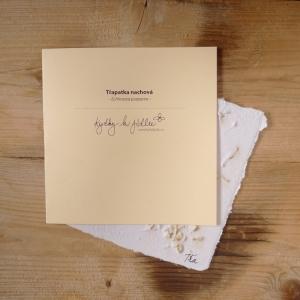 Ruční papír velký se semínky třapatky nachové