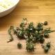 Těstovinový salát s pampeliškovými poupaty